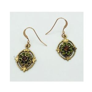 14k Rose Gold F/P Made with SWA Crystals Earrings